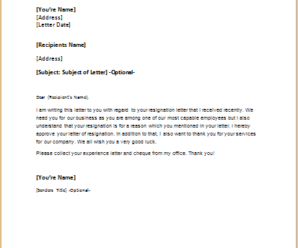 Formal Official And Professional Letter Templates