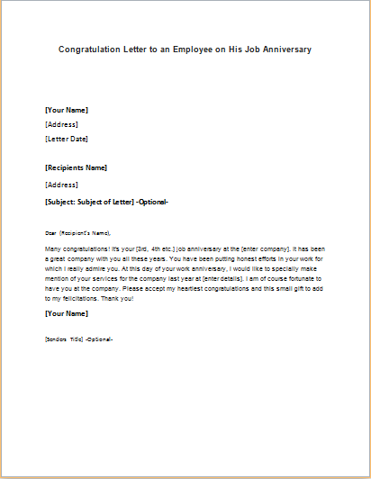 Congratulation Letter For New Job from writeletter2.com