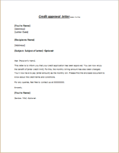 Credit-Approval-Letter-233x300 Template Approval Letters For Credit Cards on credit card dispute letter template, credit repair letter template, credit explanation letter template, credit reference letter template, letter of credit template, credit application template, medical approval letter template, credit authorization letter template,