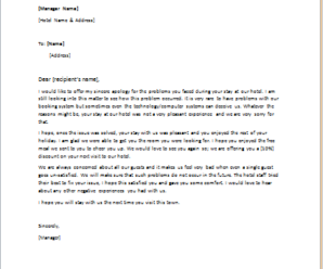 Business Letters Letter Of Apology For Bad Service