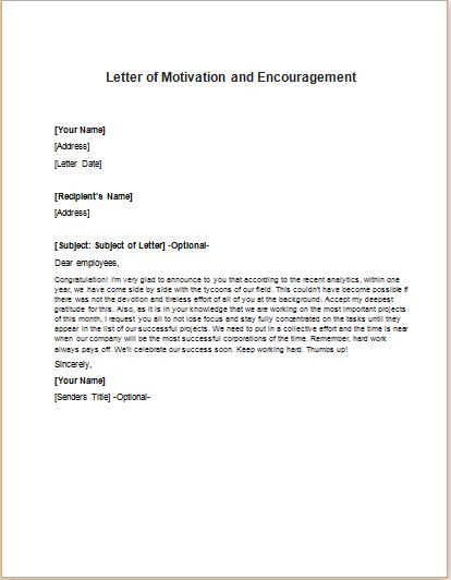 Motivation Letter To Employees from writeletter2.com