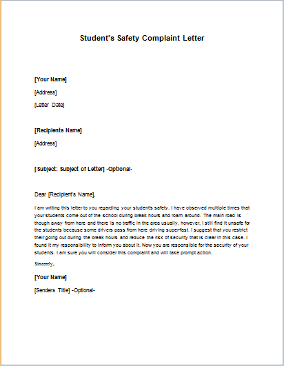 letter for complaint of defective goods supply A sample business apology letter this sample business apology letter for defective goods and products includes all of the do s and don' ts of effective business apology letter writing.