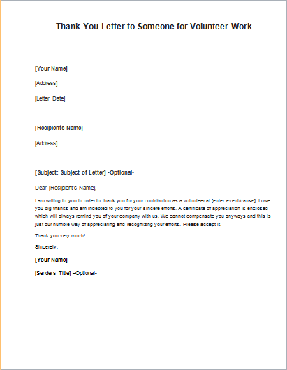 Thank you letter to someone for volunteer work writeletter2 expocarfo Choice Image