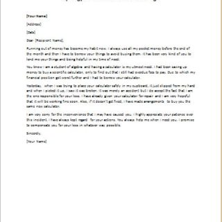 Apology Letter for Accidental Damage
