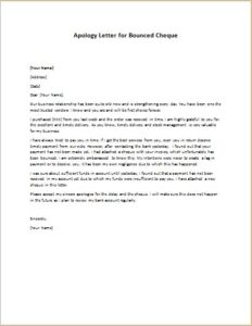 return cheque collection letter