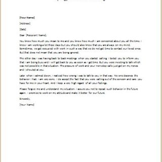apology letter for hurt feelings samples formal official and professional letter templates part 5 25038 | Apology Letter for Hurt Feelings 320x320