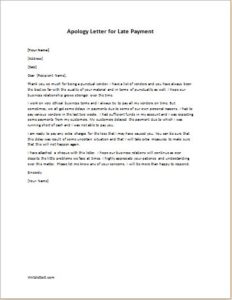 Apology Letter for Late Payment