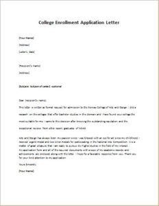 College enrollment application letter writeletter2 download details college enrollment application letter altavistaventures Images