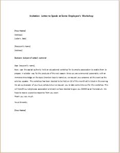 Invitation letter to speak at some employees workshop invitation letter to speak at some employees workshop spiritdancerdesigns Choice Image