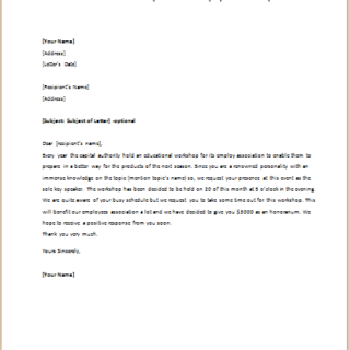 Formal official and professional letter templates part 17 invitation letter to speak at some employees workshop stopboris Choice Image
