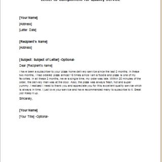 Compliment Letters Writeletter2 Com