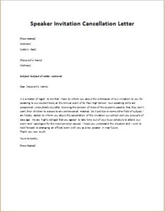 Speaker invitation cancellation letter writeletter2 download details speaker invitation cancellation letter stopboris Choice Image
