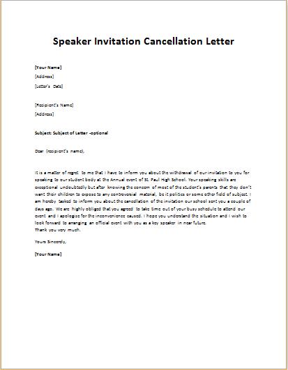 Invitation Letter For Guest from writeletter2.com