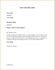 letter of request for correction of error error correction letter writeletter2 18709