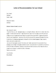 How to write a cover letter for law school basic cover letter for a law school recommendation letter sample from employer spiritdancerdesigns Choice Image