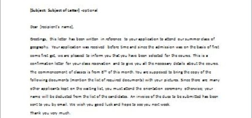 Letter To Confirm The Reservation To A Guest  WriteletterCom