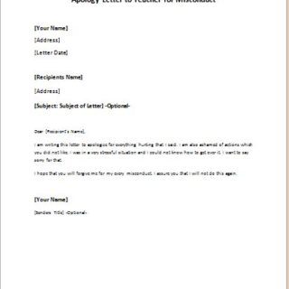 Apology letter to teacher for misconduct