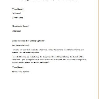 Apology Letter for Misbehavior writeletter2com