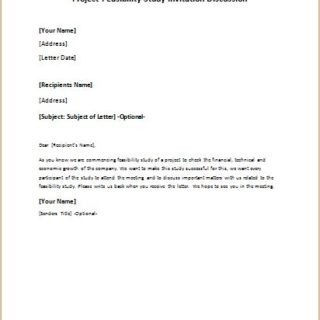 project feasibility study invitation discussion letter