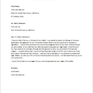 Thank you letter to a lawyer