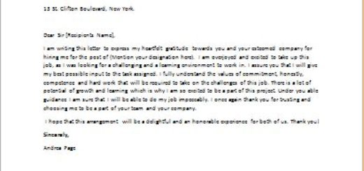 Thank you letter to a recruiter