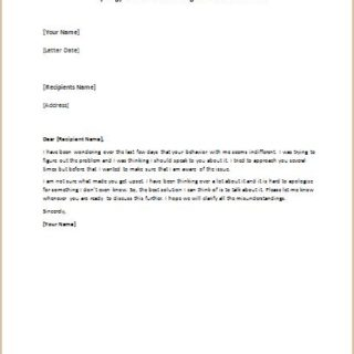 Apology Letter For Something You Donu0027t Remember  Personal Apology Letter