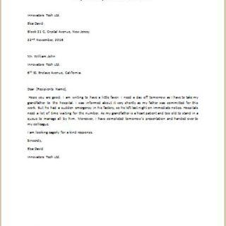 How to write an application letter request