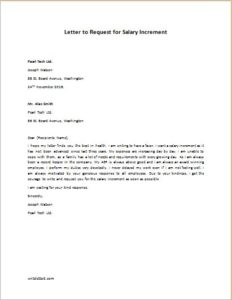 Request For Salary Increase Letter from writeletter2.com