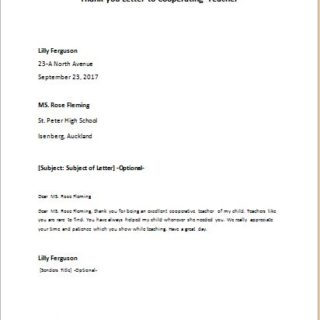 thank you letter to cooperating teacher writeletter2com