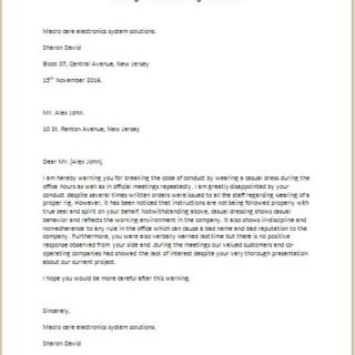 Warning-Letter-for-Breaking-Office-Rules-320x320  Rule Letter Template on rules button, rules library, rules and regulations,