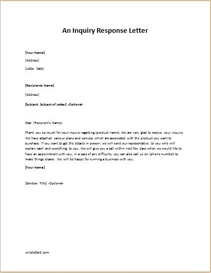 Letter Of Inquiry Sample from writeletter2.com