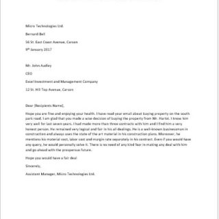 Character Reference Letter for a Landlord