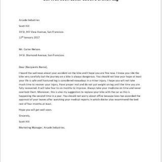 Get Well Soon Letter about a Broken Leg