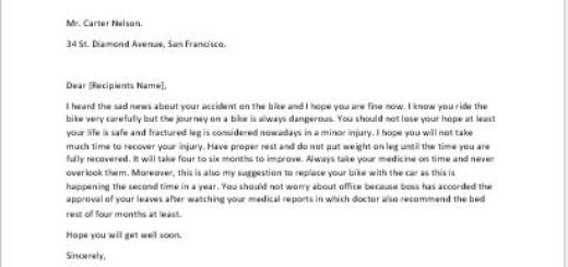 get well soon letter about a broken leg