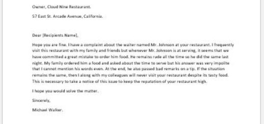 Complaint letter for spoiled food writeletter2 complaint letter for rude behaviour of an employee spiritdancerdesigns Images