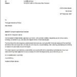 Complaint Email to Police about Bad Character