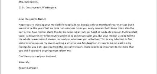 I Love You Letter from Father to his Daughter