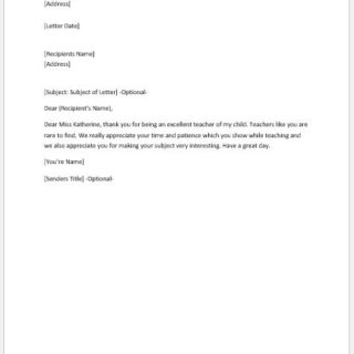 Formal, Official and Professional Letter Templates