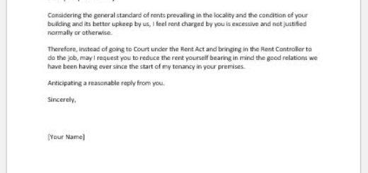 Rent Reduction Request Letter