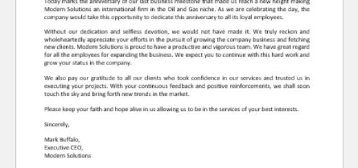 Announcing Business Milestone Anniversary