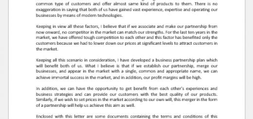 Proposal Letter for Partnership