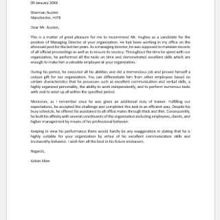 Experience Reference Letter